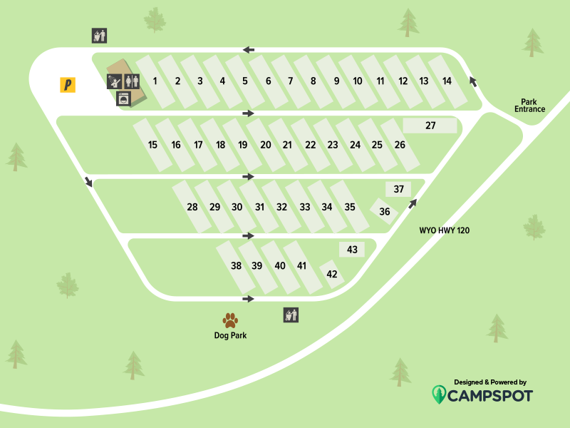 Buffalo Bluff RV Park Campground Map